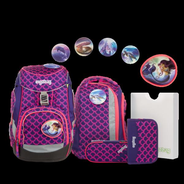 "Ergobag Pack Lumi Edition 6-teiliges Schulrucksack-Set ""PerlentauchBär"""