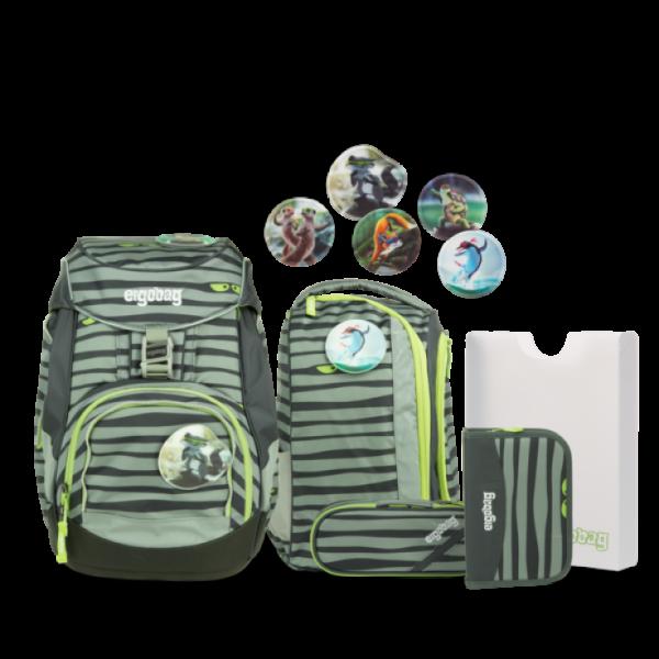 """Ergobag Pack 6-teiliges Schulrucksack-Set """"Super NinBär"""""""