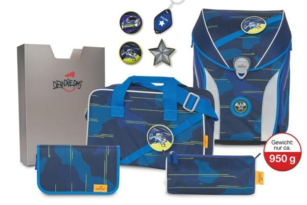 DerDieDas ErgoFlex MAX Schulranzenset Blue Laser #8408503