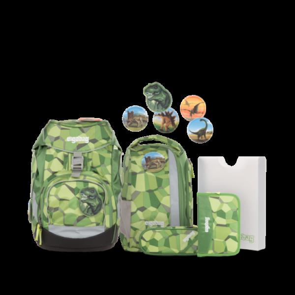 """Ergobag Pack 6-teiliges Schulrucksack-Set """"Bäranusaurus Rex"""""""