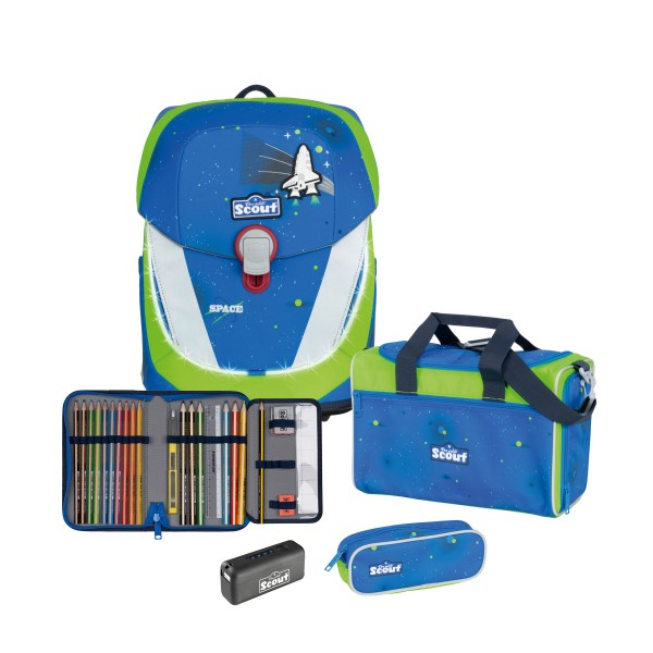 Scout Sunny II Exklusiv Safety Light Blue Space 4-tlg. inkl. Powerbank #73460078500