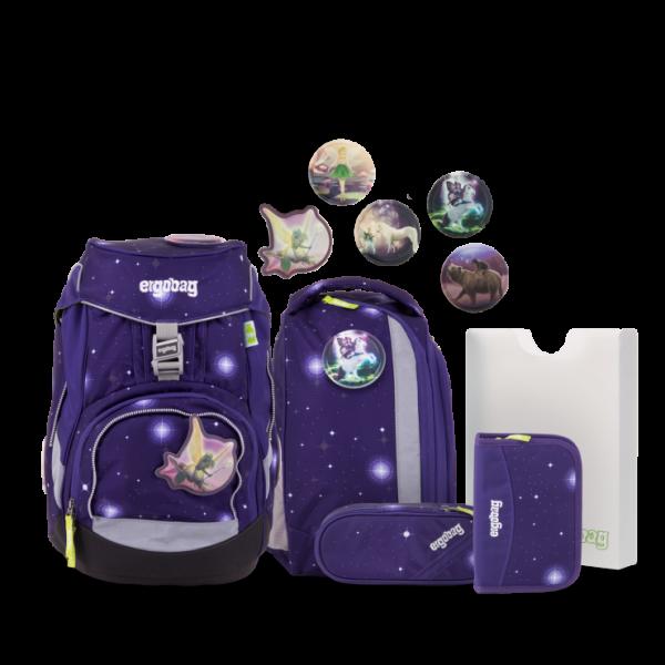 "Ergobag Pack Galaxy Glow Edition 6-teiliges Schulrucksack-Set ""FeenzauBär"" ERG-SET-001-9V6"